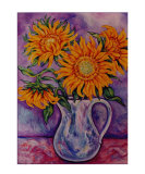 Yellow Sunflowers Giclee Print by Mary Connors