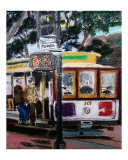 120707 Powell and Mason St Trolleys San Francisco Giclee Print by Garland Oldham