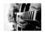 Jazz Guitarist 1 BW Photographic Print by John Gusky