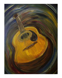 Guitar Giclee Print by Clemens Greis