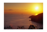 Sunset over Saint Thomas US Virgin Islands Photographic Print by George Oze