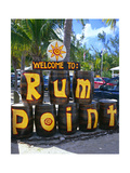 Painted Rum Barrels Rum Point Cayman Islands Photographic Print by George Oze