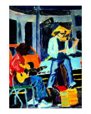 010108 New Orleans Street Musicians Giclee Print by Garland Oldham