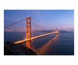 Golden Gate Bridge at Sunset Fotografie-Druck von Keith Reicher