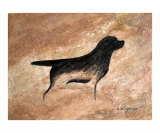 Cave Dog - Labrador Retriever Giclee Print by Amy Reges