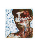 Self Portrait Brown with Blue Etching Giclee Print by Becki Sanders
