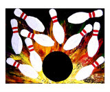 Bowling Strike Giclee Print by Teo Alfonso