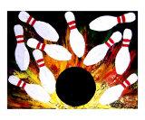 Bowling Strike Giclee Print by Teo Alfonso