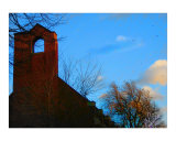 Church In Blue Photographic Print by John Peters