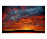 Almond Sunset Photographic Print by Gudni Einarsson
