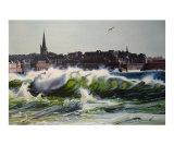 Saint Malo Sous La Houle Giclee Print by Jocelyn Forveille