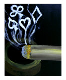 Poker Cigar Giclee Print by Teo Alfonso
