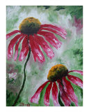 Echinacea Giclee Print by Janel Bragg