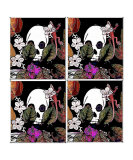4 Bits Lizards and Skulls Giclee Print by Pepita Selles