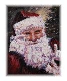 Santa Chat Giclee Print by Nadine Rippelmeyer