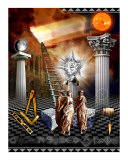 Modern First Degree Masonic Tracing Board Photographic Print by Masonic Traveler