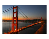 Golden Gate Sunrise Fotoprint van Vincent James