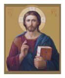 Jesus Christ Pantocrator Giclée-tryk af Svitozar Nenyuk