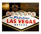 Moon Over Las Vegas Giclee Print by Teo Alfonso
