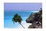 Tulum Shoreline Mexico Photographic Print by George Oze