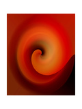 Swirling Red Lmina fotogrfica por Ruth Palmer