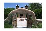 Adobe Gates El Santuario de Chimayo New Mexico Photographic Print by George Oze