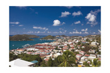 Aerial View of Charlotte Amalie St Thomas USVI Photographic Print by George Oze