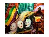 Mardi Gras Balcony Giclee Print by Diane Millsap