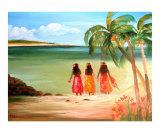 Bahamas Beach Giclee Print by Maria Athanasiou