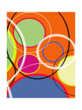 6 of 6 Abstract Art Retro Funk Giclee Print by Ricki Mountain