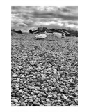Boats on a Shingle Beach Photographic Print by Emmanuelle Guillou