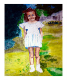 010908 Priscilla 1944 Rayne Louisiana Giclee Print by Garland Oldham