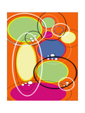 4 of 6 Abstract Art Retro Funk Giclée-Druck von Ricki Mountain