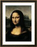 Mona Lisa, c.1507 (detail) Gerahmter Giclée-Druck von  Leonardo da Vinci