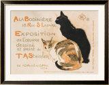 A la Bodiniere, 1894 Reproduction giclée encadrée par Théophile Alexandre Steinlen