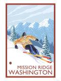 Downhhill Snow Skier, Mission Ridge, Washington Art