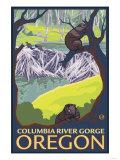 Beaver Family, Columbia River Gorge, Oregon Art by  Lantern Press