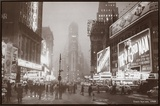 Times Square Framed Canvas Print
