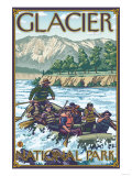 White Water Rafting, Glacier National Park, Montana Prints