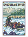 White Water Rafting, Snoqualmie River, Washington Prints by  Lantern Press