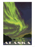 Northern Lights and Orcas, Fairbanks, Alaska Prints