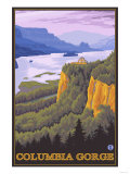 Columbia River Gorge Scene with Crown Point Prints by  Lantern Press