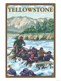White Water Rafting, Yellowstone National Park Prints by  Lantern Press