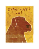 Chocolate Lab Láminas por John Golden
