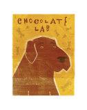 Chocolate Lab Lámina por John Golden