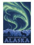 Northern Lights, Denali National Park, Alaska Prints by  Lantern Press