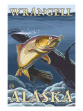 Trout Fishing Cross-Section, Wrangell, Alaska Kunst