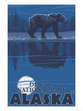 Bear in Moonlight, Denali National Park, Alaska Art by  Lantern Press