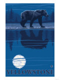 Bear in Moonlight, Yellowstone National Park Prints by  Lantern Press