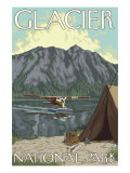 Bush Plane & Fishing, Glacier National Park, Montana Prints by  Lantern Press